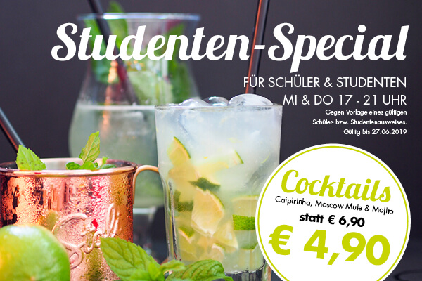 Cocktail Happy Hour für Studenten im Hoppala